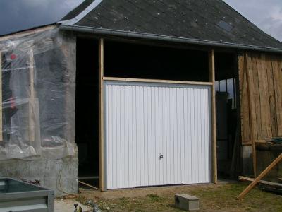 Vue de la porte de garage